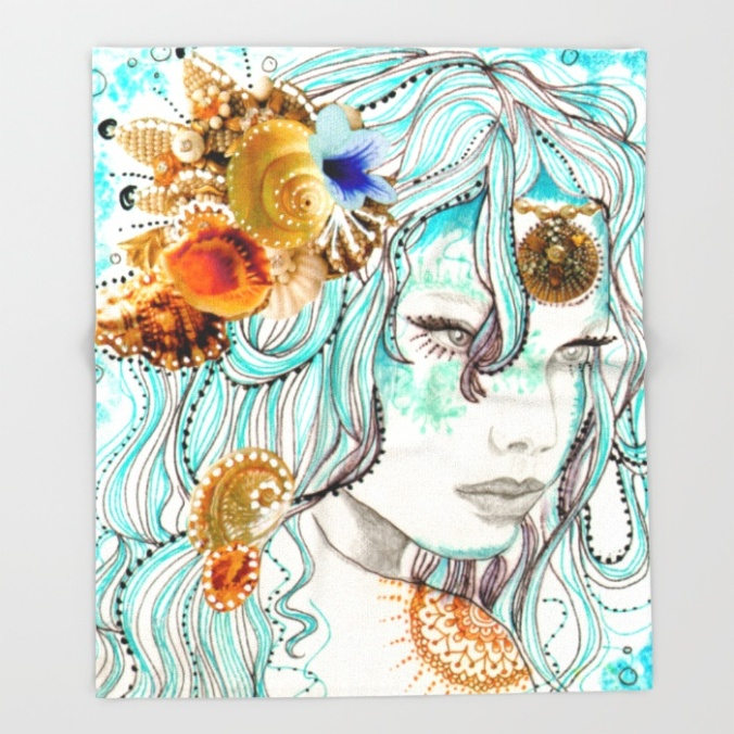 mermaid-hair-9ia-throw-blankets